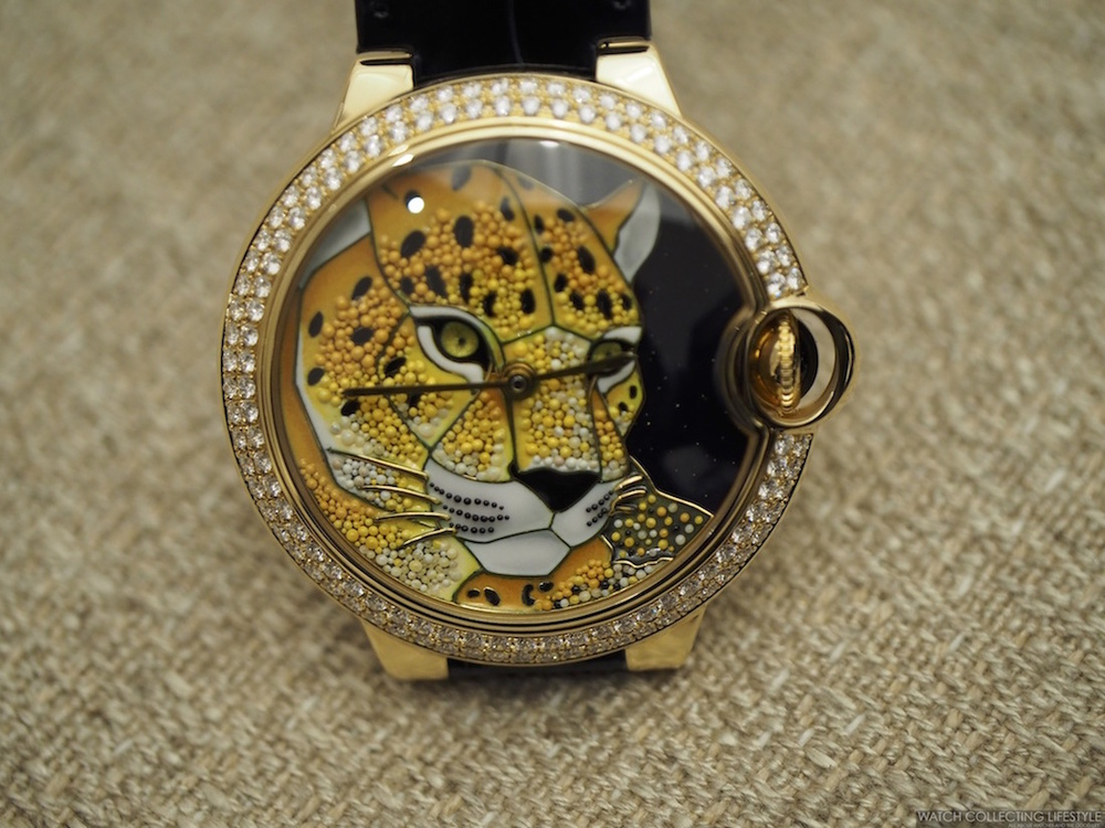 Take A Look At Replica Cartier Ballon Bleu De Cartier Enamel Granulation with Panther Motif