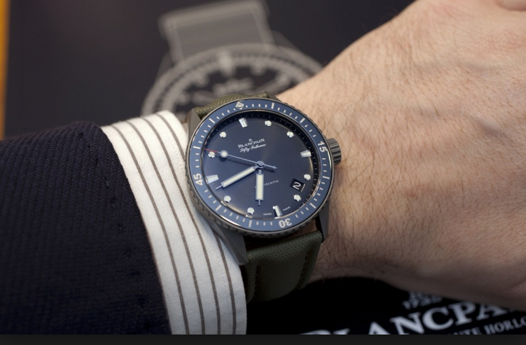 Full Review With The Casual Mix Elegant Blancpain Fifty Fathom Bathyscaphe Replica Watch