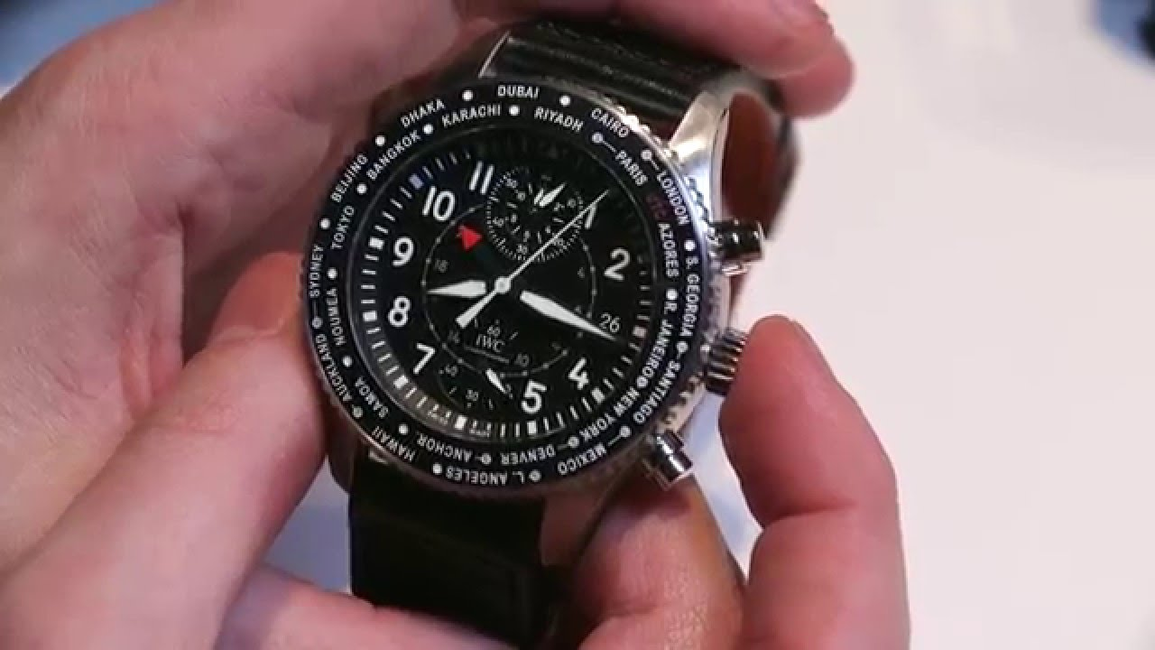 Buy A Cool, Masculine And Techinical IWC Pilot's Watch Timezoner Chronograph Replica Watch