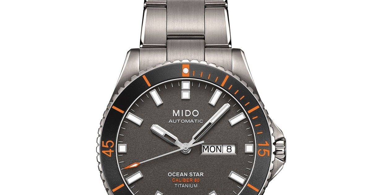 First Look: The Polished Unique Mido Ocean Star Captain Titanium Replica Watch