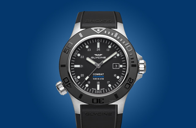 Glycine Combat Sub Aquarius 46mm Diver Mens Replica Watch