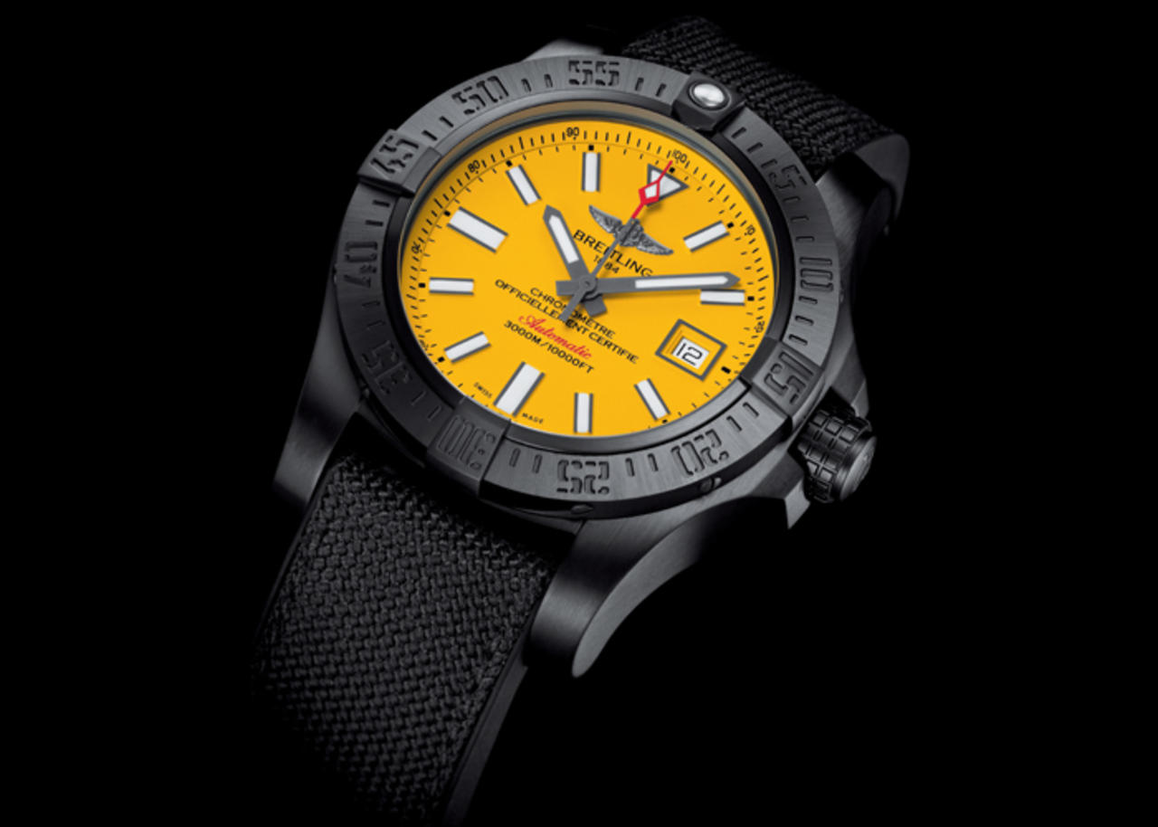 We Take A Closer Look At Breitling Avenger II Seawolf Blacksteel Replica