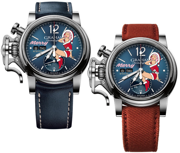 A festive Chronofighter Vintage Nose Art