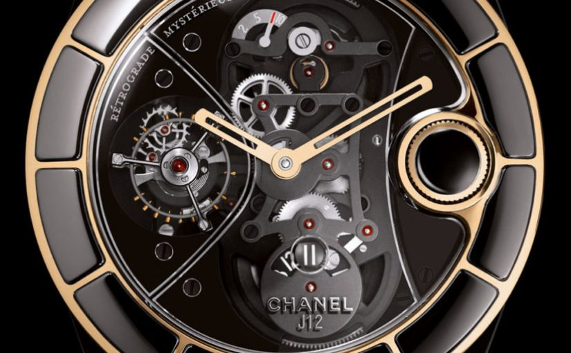 Swiss Movement Replica Watches Recalling A Modern Exotic: Chanel J12 R??trograde Myst??rieuse Tourbillon Watch