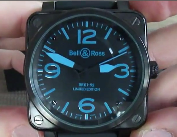 Bell & Ross Replica Carbon Blue Watch – Photo Review