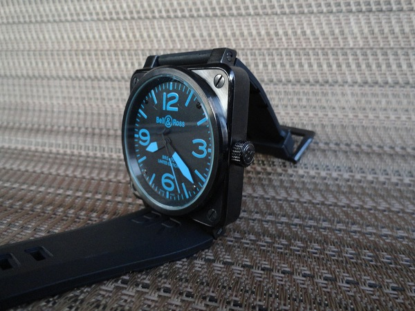 Bell & Ross Replica Magic Carbon Blue Watch Hands On