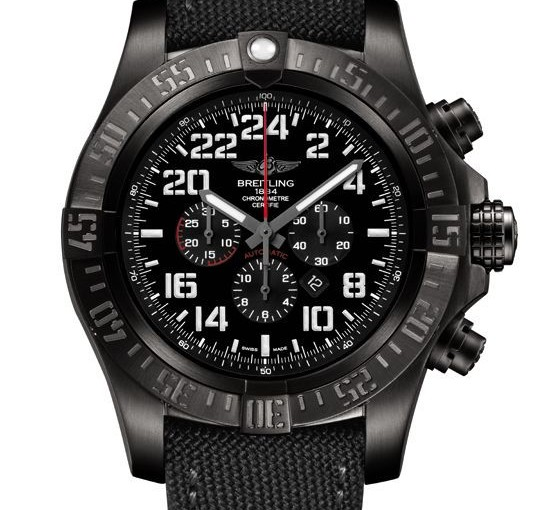 Limited Edition Watch Series:Breitling Super Avenger Military With Black Dials Replica