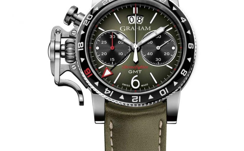 Unique piece Graham watch dealers Replica Chronofighter Vintage GMT
